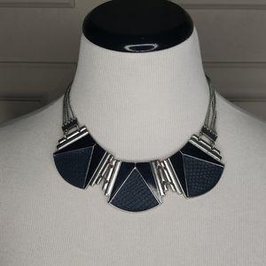Snakeskin collar necklace